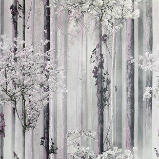 Forest Trees Mural Wallpaper Wayfair Co Uk