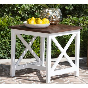 Bargain Fequiere Outdoor Wooden End Table By August Grove