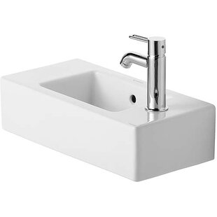 Shop For Vero Ceramic Rectangular Vessel Bathroom Sink with Overflow By Duravit