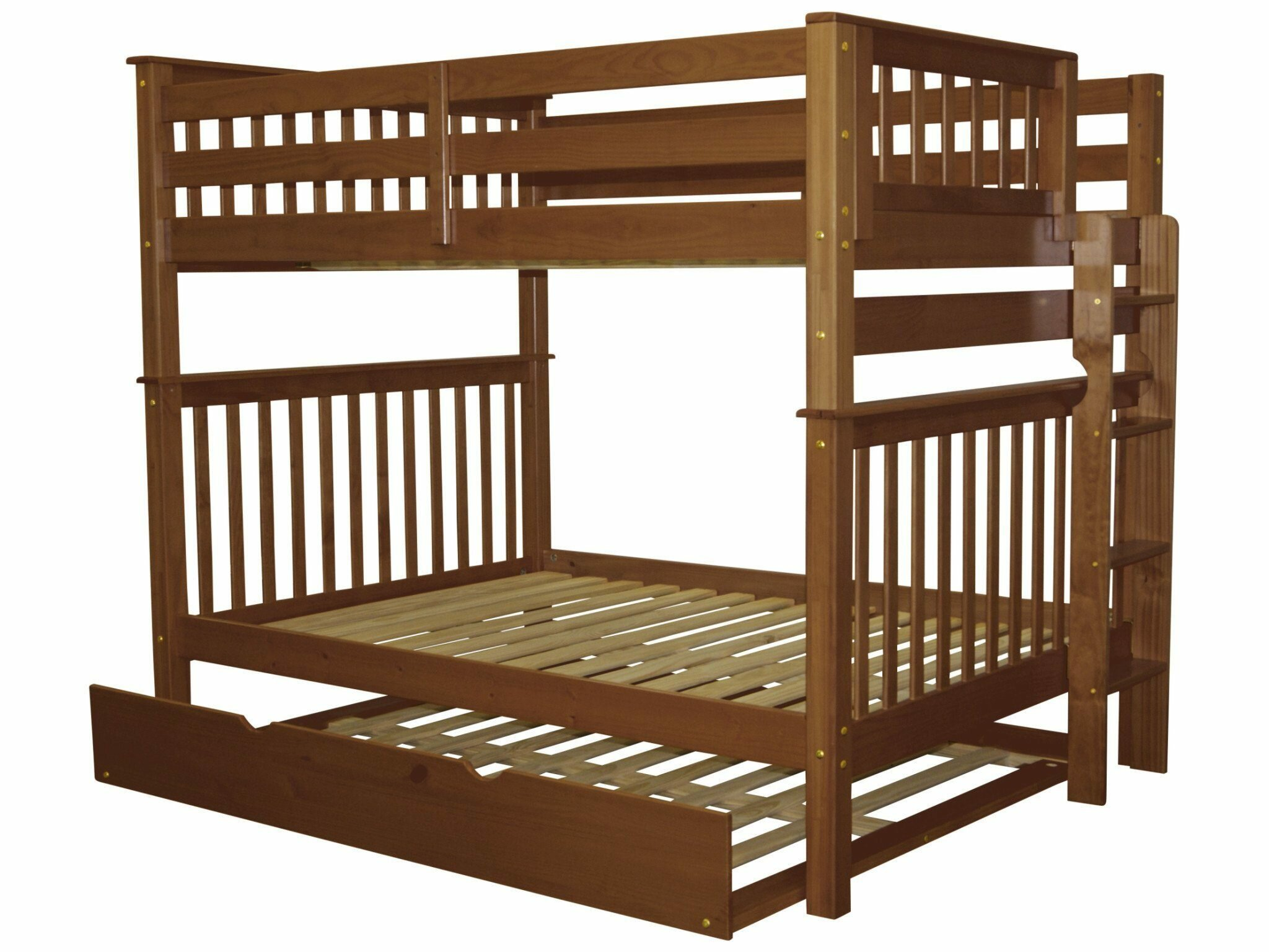 Picture of: Harriet Bee Treva Full Over Full Bunk Bed With Trundle Reviews Wayfair