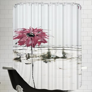 Fleur Rose 1 Single Shower Curtain