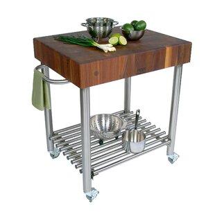 Cucina Americana Kitchen Cart With Butcher Block Top by John Boos Cool