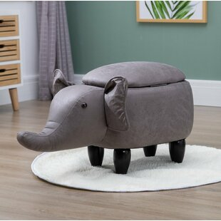 Rylie Elephant Storage Children's Stool By Zoomie Kids