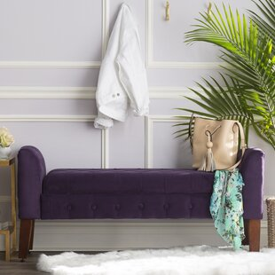 Three Posts Maple Ridge Upholstered Storage Bench