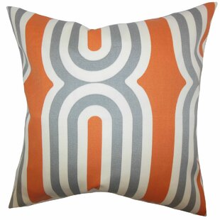 Persis Geometric Throw Pillow by The Pillow Collection 2019 Sale