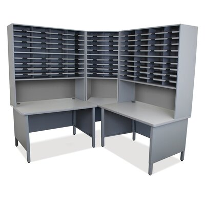 100 Compartment Mailroom Organizer Marvel Office Furniture Finish Slate Gray