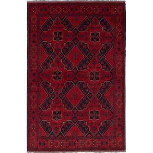 Reviews One-of-a-Kind Serefina Hand-Knotted Red/Black Area Rug By Isabelline