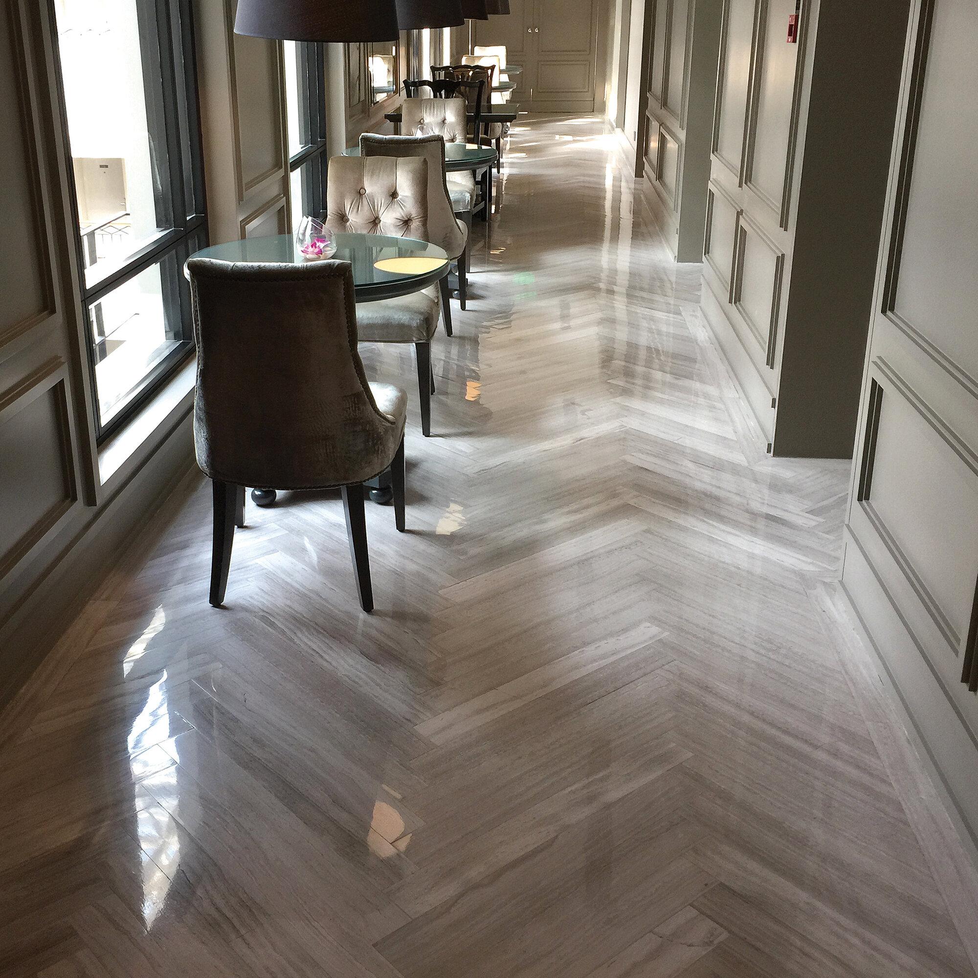 """WhiteOak 5"""" x 5"""" Marble Wood look Wall & Floor Tile"""