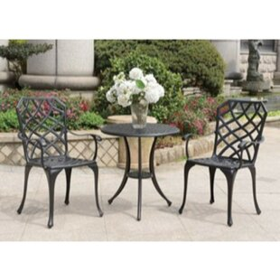 Newbill 3 Piece Bistro Set with Cushions by Charlton Home
