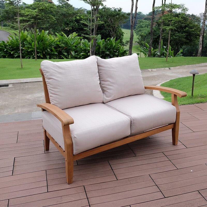 Birch Lane Heritage Summerton Teak Loveseat With Cushions Reviews
