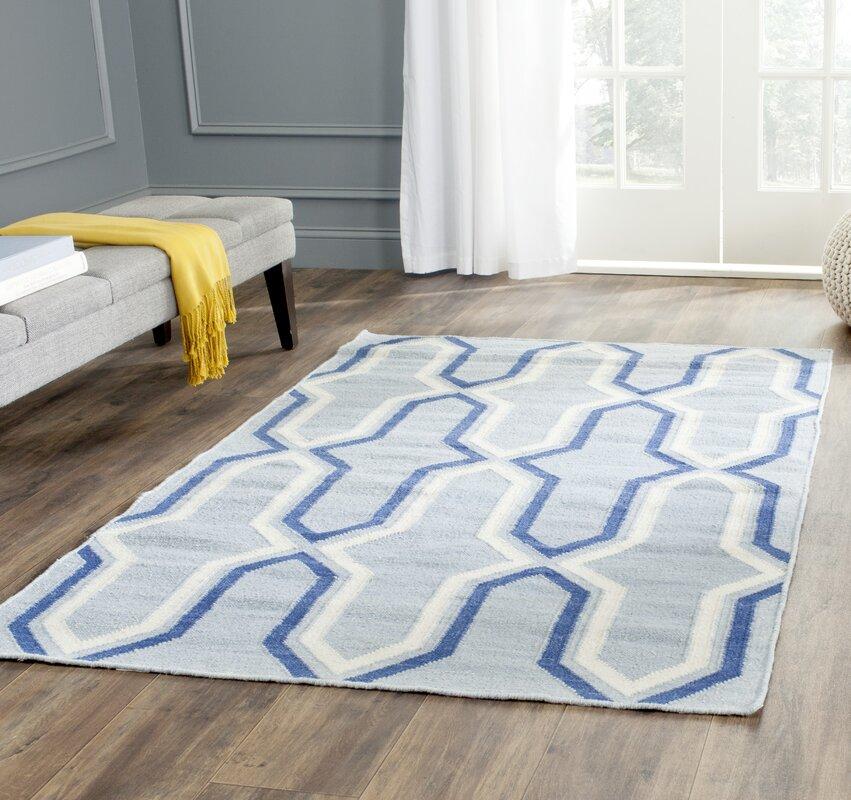 safavieh handgefertigter teppich aklim in hellblau dunkelblau bewertungen. Black Bedroom Furniture Sets. Home Design Ideas