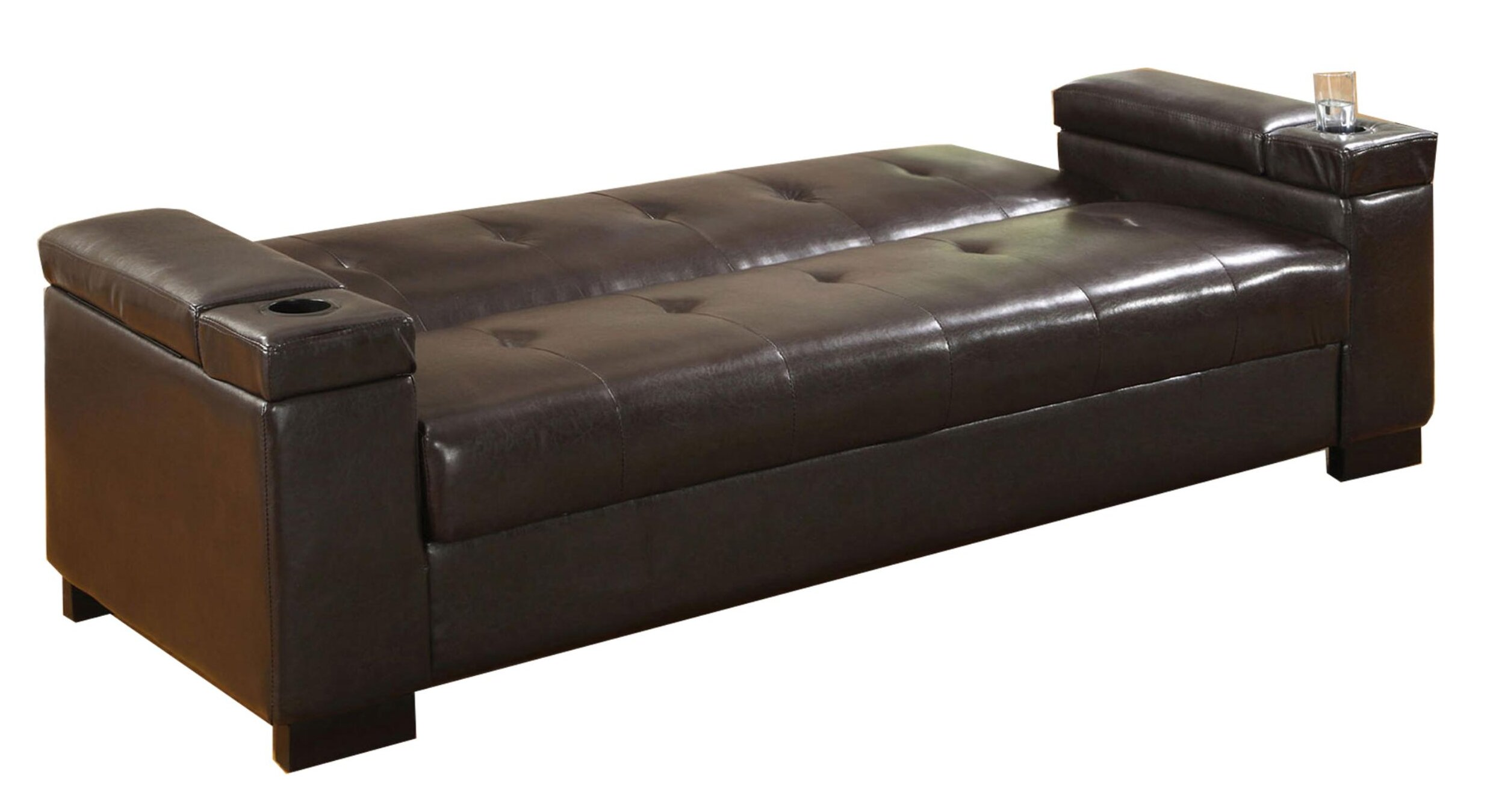 Brown Faux Leather Sofa Beds You Ll Love In 2021 Wayfair