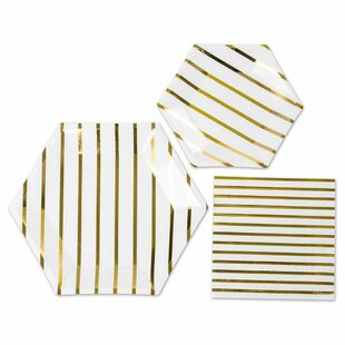 3 Piece Tableware Paper Disposable Plates and Napkins