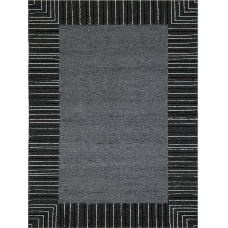 Harriet Bee Oakham Geometric Gray Area Rug Reviews Wayfair