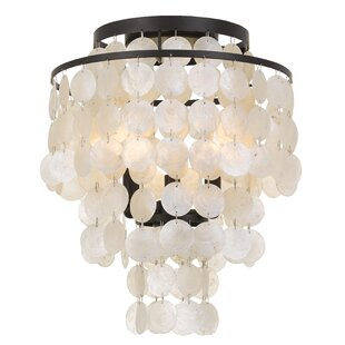 Gaiser 3-Light Flush Mount by Highland Dunes