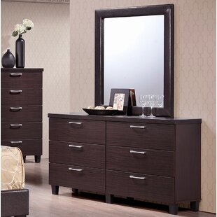 Emmeline 6 Drawer Double Dresser by Latitude Run