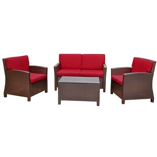 Stapleton 4 Piece Sofa Set with Cushions