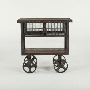 Chute Reclaimed Teak Bar Cart by Gracie Oaks