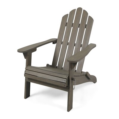 Excellent Gracie Oaks Larracey Solid Wood Folding Adirondack Chair Caraccident5 Cool Chair Designs And Ideas Caraccident5Info
