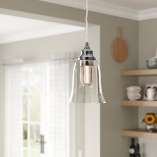 Laurel Foundry Modern Farmhouse Du Bois Cord-Hung 1-Light Bell Pendant