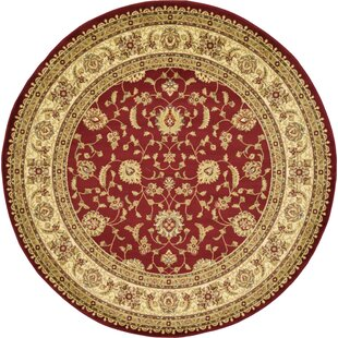 Fairmount Red/Cream Area Rug by Three Posts