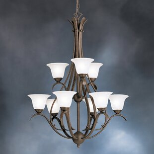 Cayman 9-Light Shaded Chandelier by Alcott Hill
