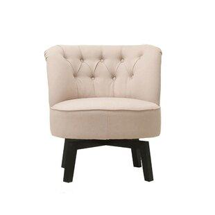 Santillan Swivel Slipper Chair by Wrought Studio