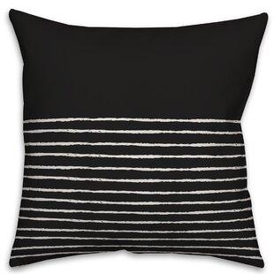 Elivra Sketch Stripes Throw Pillow
