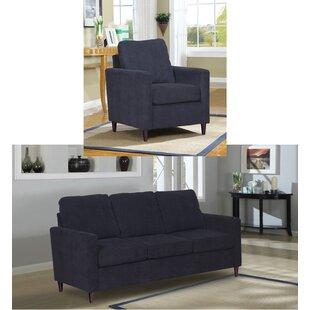 Ebern Designs Amall 2 Piece Living Room Set