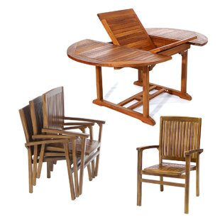 All Things Cedar Teak 5 Piece Dining Set