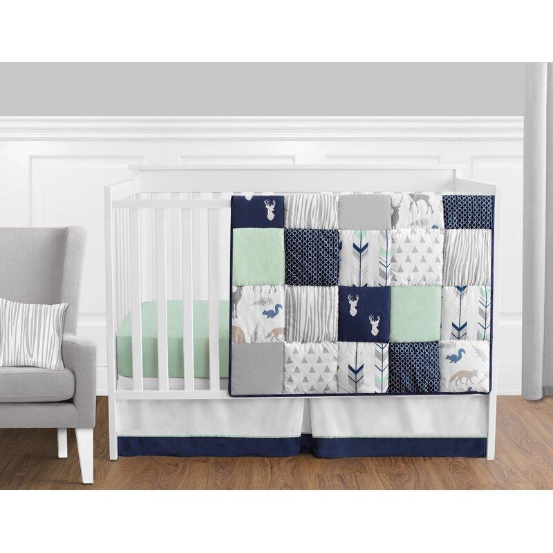 Navy Mint Gray Woodland Arrow Baby Girl Wall Paper Border Room Decor Sweet Jojo