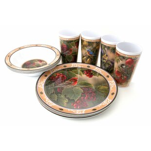 Songbird Melamine 12 Piece Dinnerware Set, Service for 4