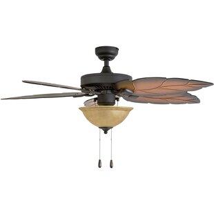Great Price 52 Peletier 5 Blade Ceiling Fan By Bay Isle Home