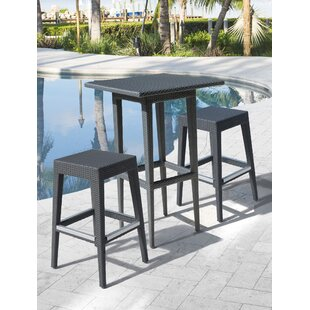 Onyx 3 Piece Bar Height Dining Set