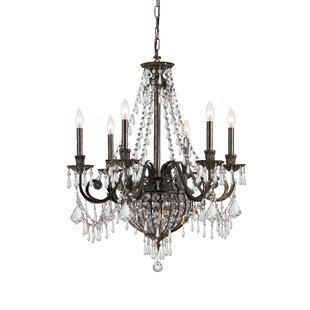 Astoria Grand Mooney 6-Light Crystal Chandelier