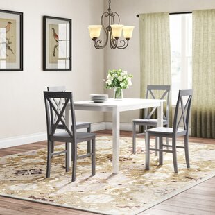 Rarick 5 Piece Solid Wood Dining Set by August Grove