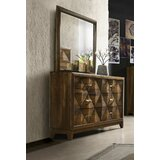 Moffett 6 Drawer Double Dresser With Mirror by Foundry Select