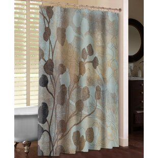 Spa Blue and Gold Shower Curtain ByLaural Home