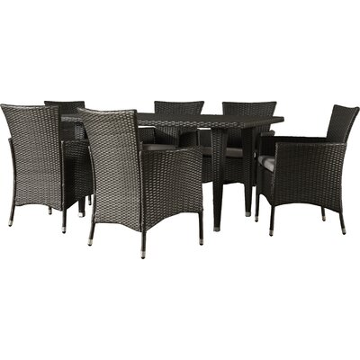 Areli 7 Piece Dining Set with Cushion by Andover Mills