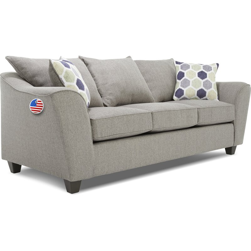 True Seating Knox Sofa Light Gray
