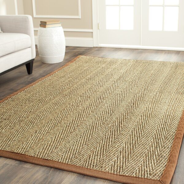 Andover Mills Jeremy Jute Sisal Brown Tan Area Rug Reviews Wayfair