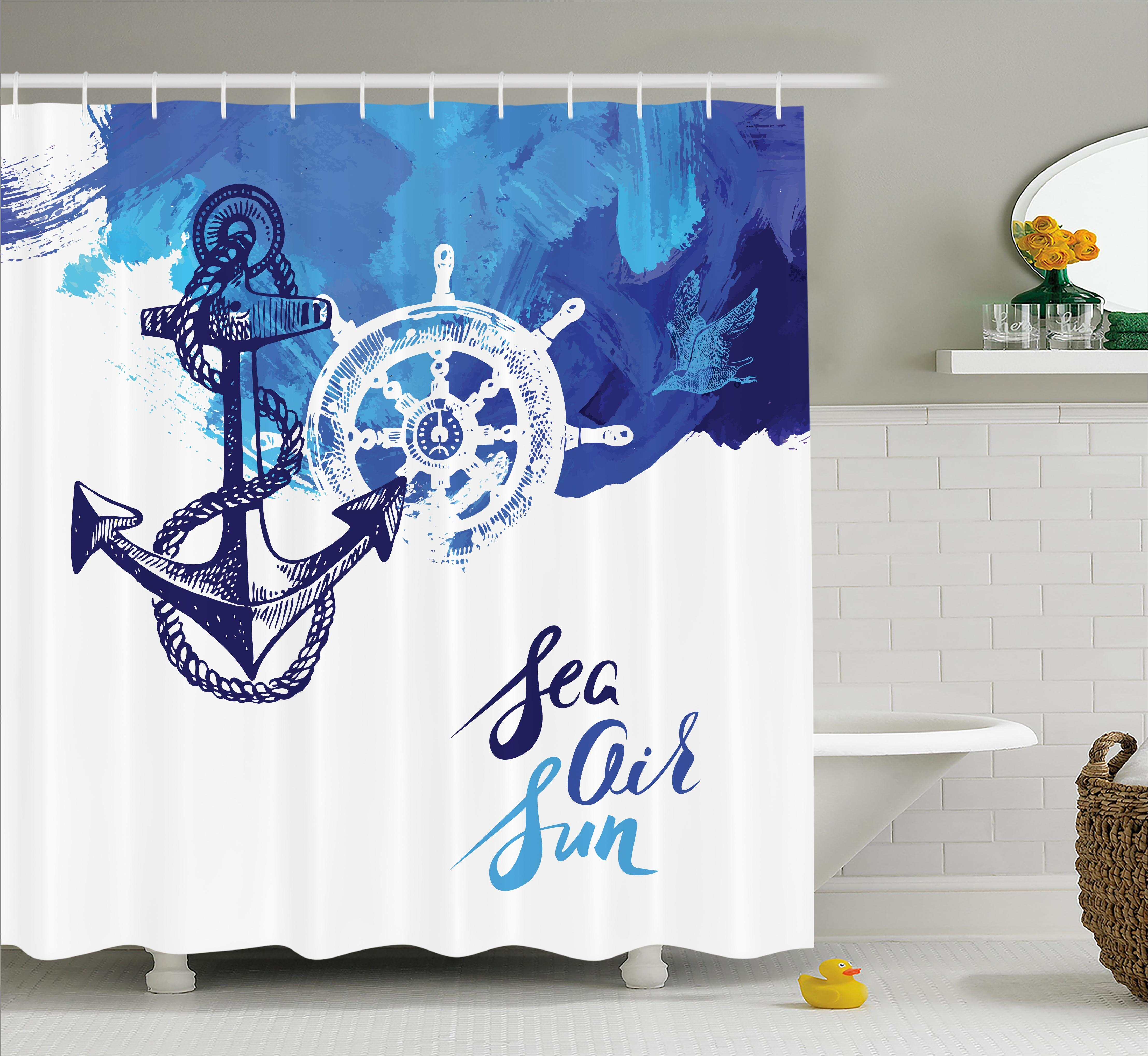 East Urban Home Rudder Cruise Nautical Decor Single Shower Curtain Wayfair