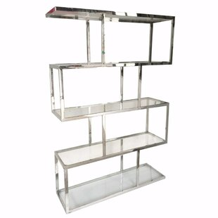 Funderburk Vesey Geometric Bookcase