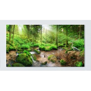 Forest Motif Magnetic Wall Mounted Cork Board By Ebern Designs