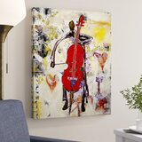 'In the Groove' Print on Canvas in Red/Yellow/Beige/Brown/Grey