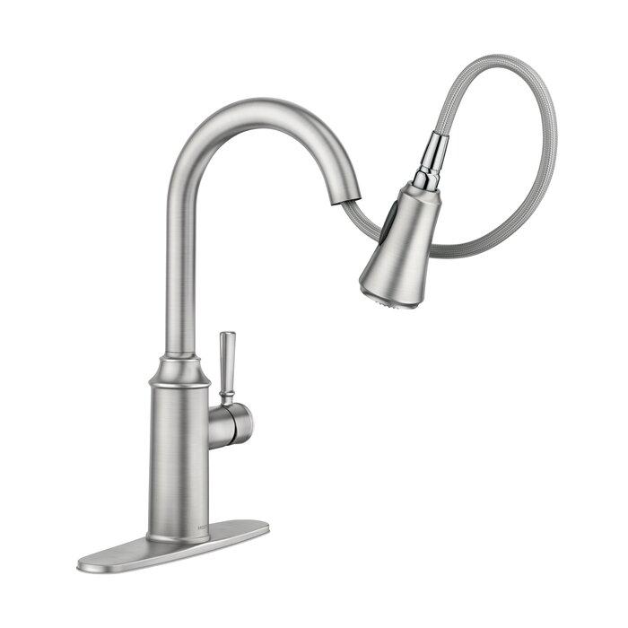 Conneaut Pull Down Single Handle Kitchen Faucet