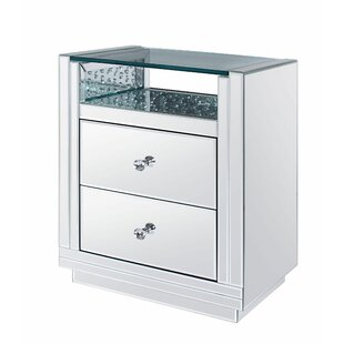 Rosdorf Park Longo 2 Drawer Nightstand