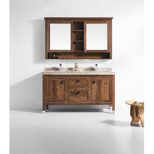 Affordable Jolly 60 Double Bathroom Vanity Set with Mirror ByLoon Peak