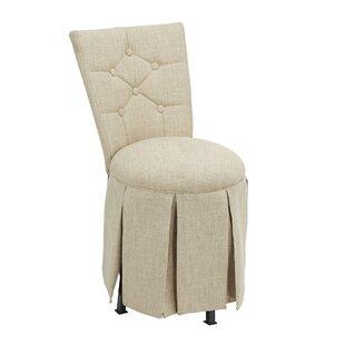 Charlton Home Simonson Skirted Vanity Swivel Side Chair