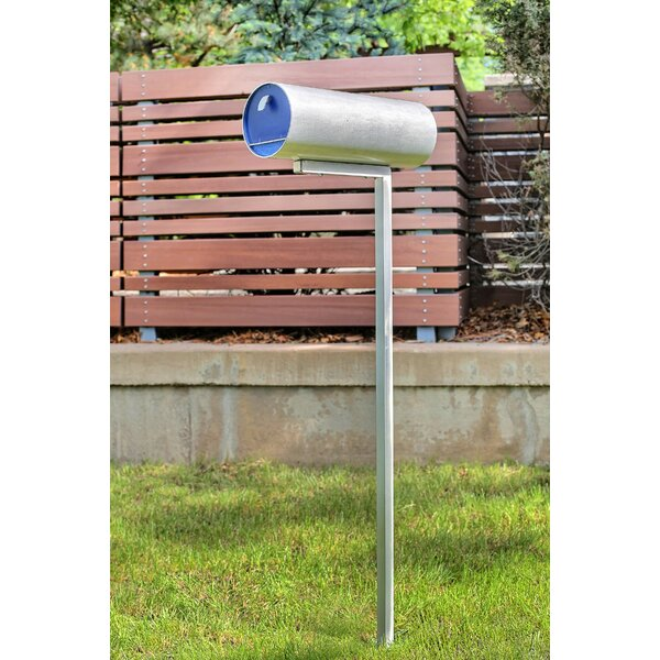 Letter Drop Aluminum Locking Post Mounted Mailbox Wayfair